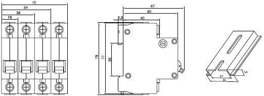 C45N Miniature Circuit Breaker MCBFamily short circuit