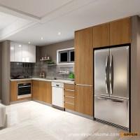 OPPEIN Kitchen in africa  OP16-M02: Modern Wood Grain ...