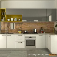 Acrylic Kitchen Cabinets Exhaust Oppein In Africa Op15 A06 Modern White And Gray High Gloss Cabinet