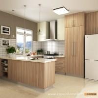 OPPEIN Kitchen in africa  OP16-M01: Modern Wood Grain ...