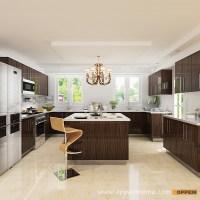 OPPEIN Kitchen in africa  OP15-HPL07: Modern High Gloss ...