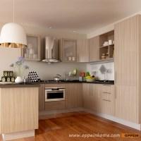 OPPEIN Kitchen in africa  OP15-M11: Modern Wood Grain ...