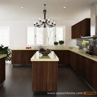 OPPEIN Kitchen in africa  OP14-PVC04: Modern Wood Grain ...