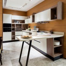 Oppein Kitchen In Africa White L-shaped With
