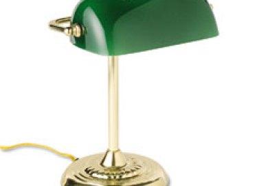 Ledl557br Ledu Traditional Incandescent Banker S Lamp