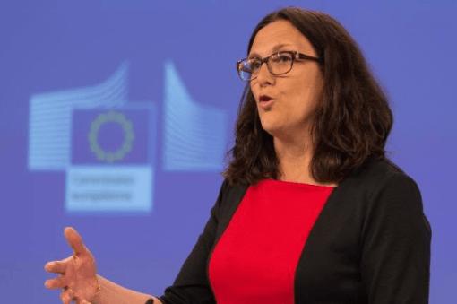 """Foto: Comisión Europea. Malmström reiteró """"el objetivo de lograr un acuerdo antes de que finalice 2016""""."""