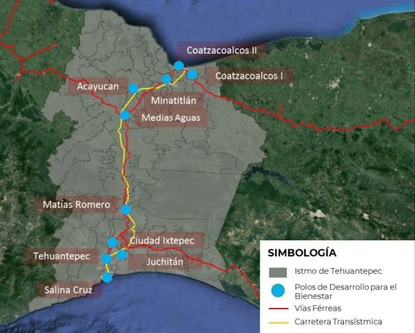 The Ministry of Finance proposed to invest 3,509 million pesos in the Interoceanic Corridor of the Isthmus of Tehuantepec by 2021.