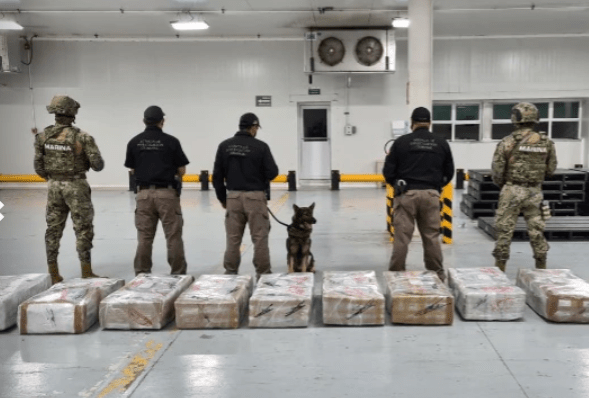 The General Administration of Customs (AGA) reported that it seized a shipment of 678.4 kilograms of cocaine in the Port of Manzanillo, Colima.