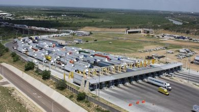 The World Trade Bridge in Laredo is the largest border crossing (in terms of the value of trade handled by the United States, Mexico, and Canada) in North America.