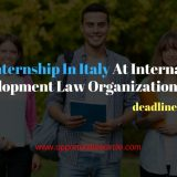 Paid Internship In Italy At International Development Law Organization 2018