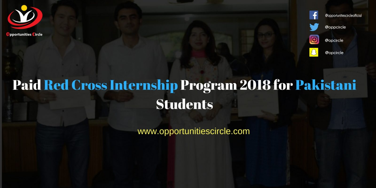 Paid Red Cross Internship Program 2018 for Pakistani Students - Paid Red Cross Internship Program 2018 for Pakistani Students