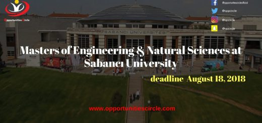Masters of Engineering & Natural Sciences at Sabancı University