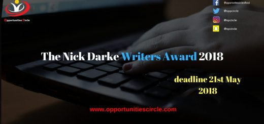 The Nick Darke Writers Award 2018