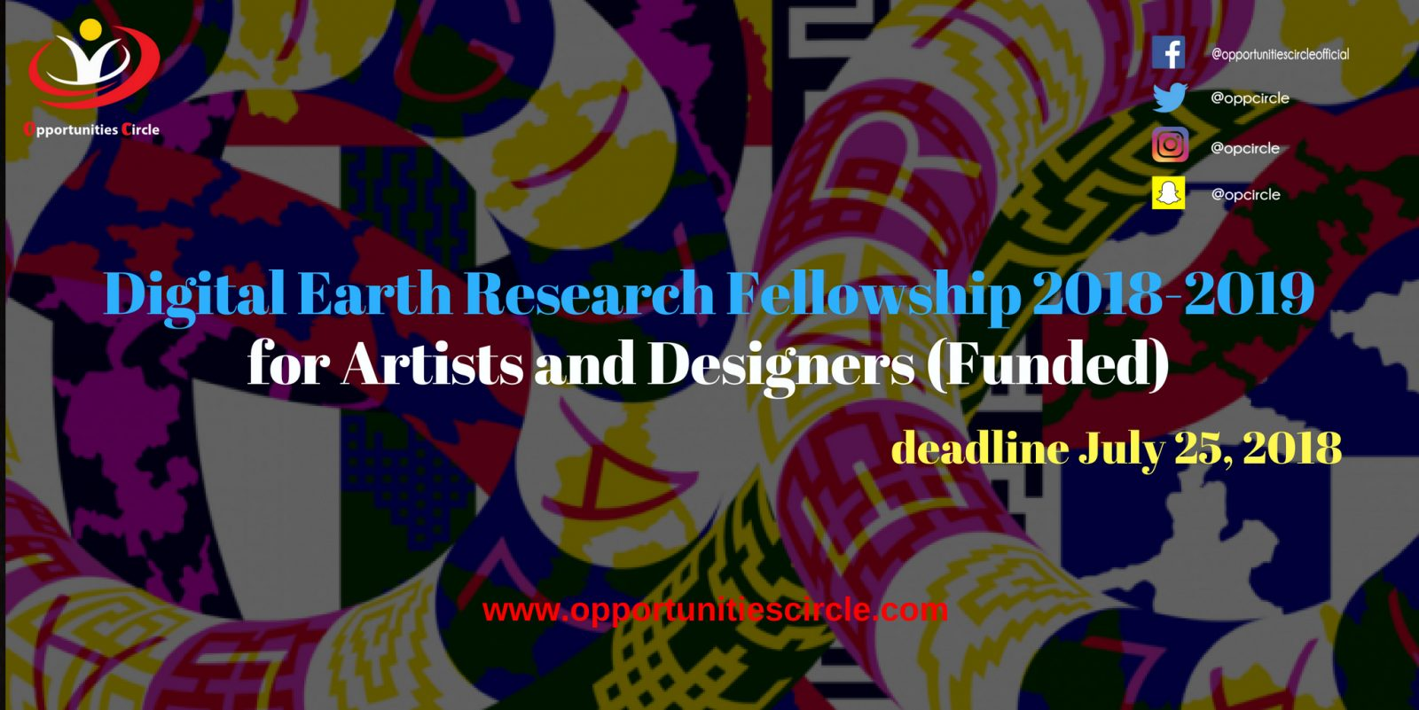 Digital Earth Research Fellowship 2018 2019 for Artists and Designers - Digital Earth Research Fellowship 2018-2019 for Artists and Designers (Funded)