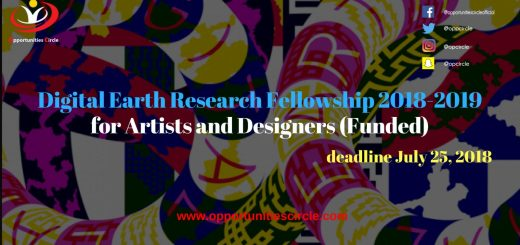 Digital Earth Research Fellowship 2018-2019 for Artists and Designers