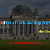 Fully Funded DAAD Scholarship 2018 Germany