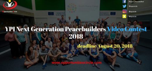 YPI Next Generation Peacebuilders Video Contest 2018