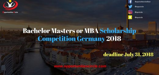 Bachelor Masters or MBA Scholarship Competition Germany 2018