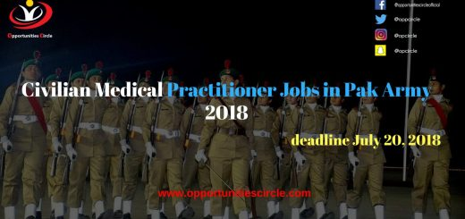 Civilian Medical Practitioner Jobs in Pak Army 2018