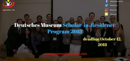 Deutsches Museum Scholar in Residence Program 2018