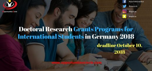 Doctoral Research Grants Programs for International Students in Germany 2018