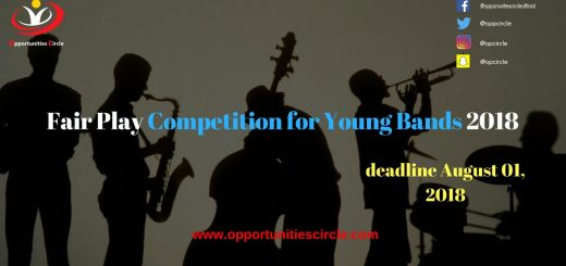 Fair Play Competition for Young Bands 2018