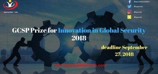 GCSP Prize for Innovation in Global Security 2018