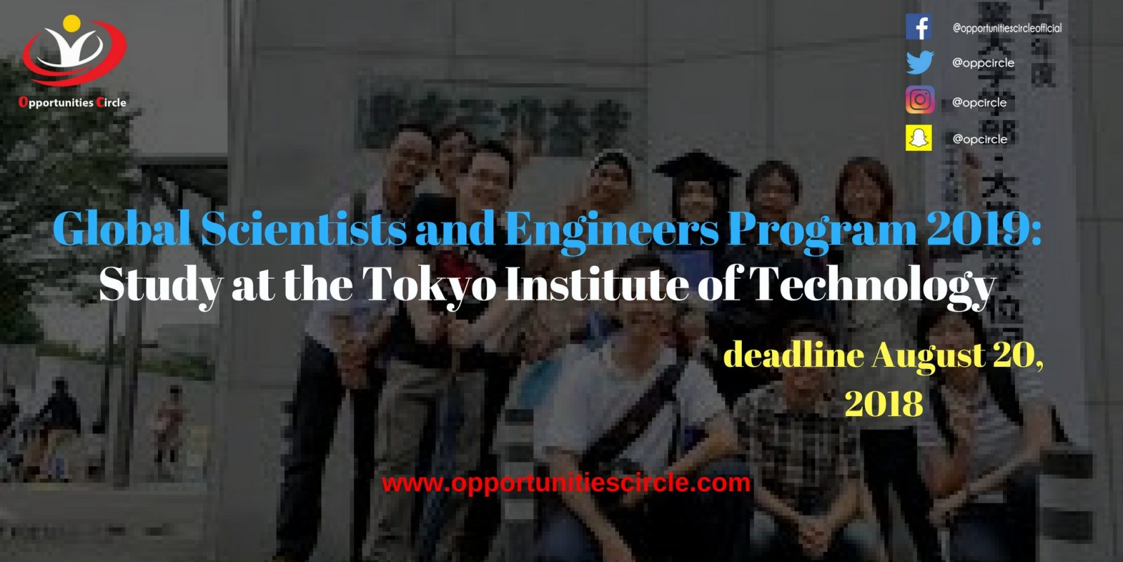 Global Scientists and Engineers Program 2019 - Global Scientists and Engineers Program 2019: Study at the Tokyo Institute of Technology