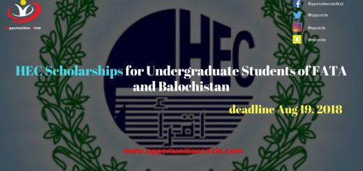 HEC Scholarships for Undergraduate Students of FATA and Balochistan
