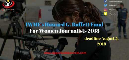 IWMF Howard G Buffett Fund 2018