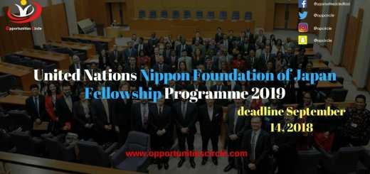 Nippon Foundation of Japan Fellowship Programme