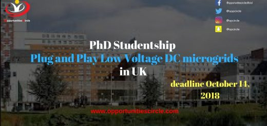 PhD Studentship Plug and Play Low Voltage DC microgrids