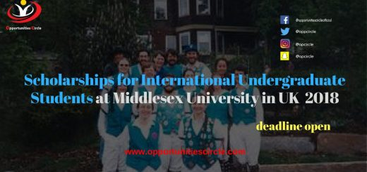 Scholarships for International Undergraduate Students at Middlesex University in UK 2018