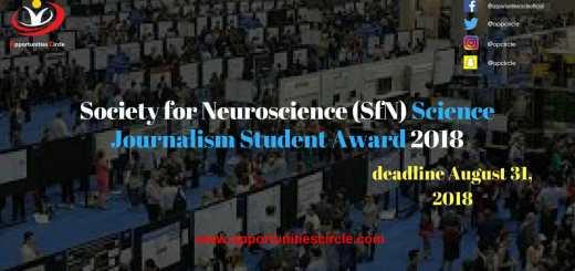 Science Journalism Student Award 2018
