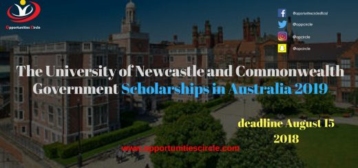 The University of Newcastle and Commonwealth Government Scholarships in Australia 2019