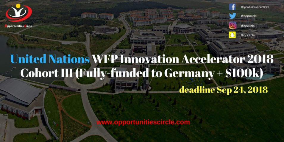 United Nations WFP Innovation Accelerator 2018 Cohort III Fully funded to Germany 100k 300x150 - United Nations WFP Innovation Accelerator 2018 Cohort III (Fully-funded to Germany + $100k)