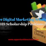 Vancouver Digital Marketing Scholarship in Canada, 2019 Scholarship Positions 2018 2019