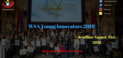 WSA Young Innovators 2018