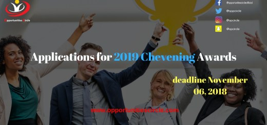 Applications for 2019 Chevening Awards