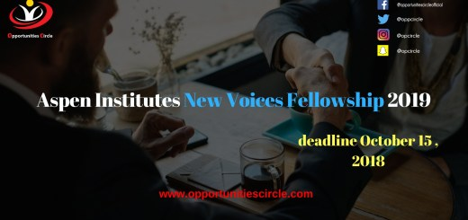Aspen Institute's New Voices Fellowship 2019