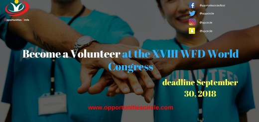 Become a Volunteer at the XVIII WFD World Congress