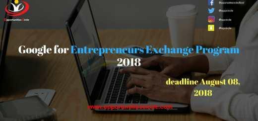Google for Entrepreneurs Exchange Program 2018