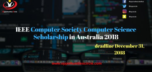 IEEE Computer Society Computer Science Scholarship in Australia 2018