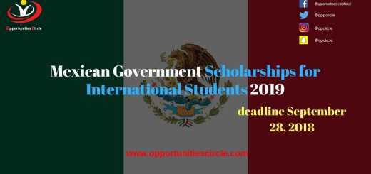 Mexican Government Scholarships for International Students 2019
