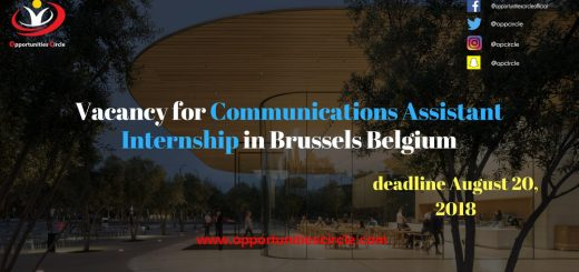 Vacancy for Communications Assistant Internship in Brussels Belgium