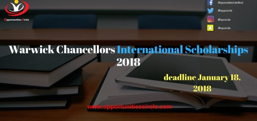 Warwick Chancellors International Scholarships 2018