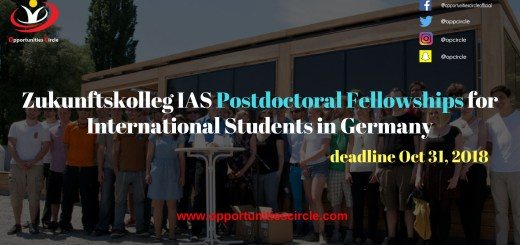 Zukunftskolleg IAS Postdoctoral Fellowships for International Students in Germany - Zukunftskolleg IAS Postdoctoral Fellowships for International Students in Germany
