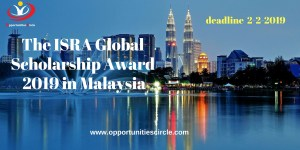 The ISRA Global Scholarship Award 2019 in Malaysia