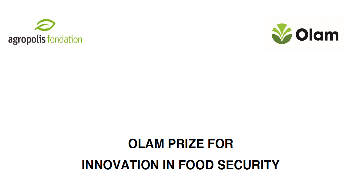 Agropolis Foundation 2017 Olam Prize for Innovation in