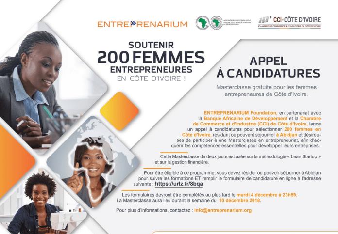 African Development Bank/Entreprenarium Foundation 2018/2019 Masterclass for women entrepreneurs in Africa. 1